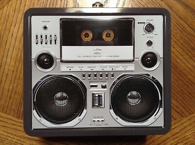 Metal Lunch Box 80's Style Boom Box - FREE U.S. SHIPPING!