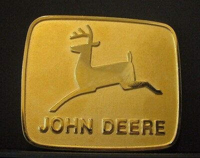 1992 John Deere Limited Canada 1968 Leaping Deer Trademark Logo Belt Buckle jd