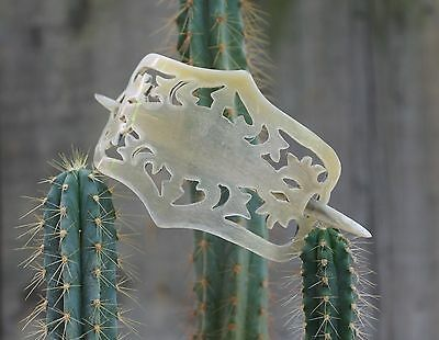Carved Horn Barrette Hand Made Mexico Folk Art Peasant Hippie Cowgirl Boho