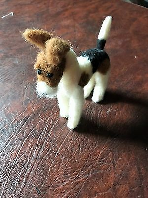 Needle Felted Wire Fox Terrier Dog