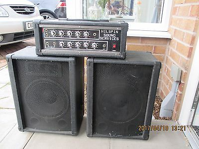 Hilspin Sound 100W Pa System With 10″ Speakers & Amplifier