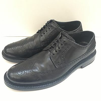 Cole Haan Wing-tip Black Leather Dress Shoe Men's Size 12 M US