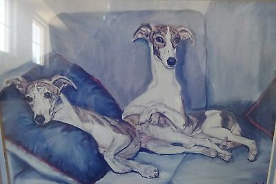 Dog Photo Art Whippets on Sofa Maystead Certificate of Authenticity 7/499 Signed