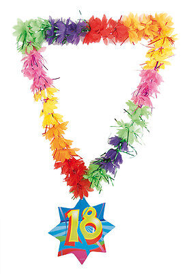 Hawaiian Tinsel Lei 18Th Birthday Age Necklace