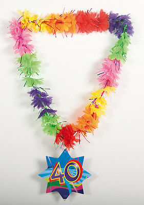 Hawaiian Tinsel Lei 40Th Birthday Necklace
