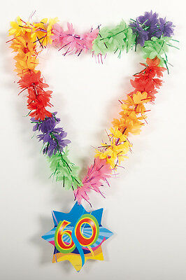 Hawaiian Tinsel Lei 60Th Birthday Necklace