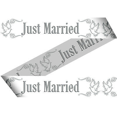 Just Married Wedding Marking Tape Ribbon 15M