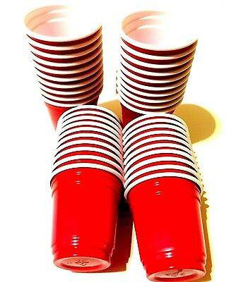 Brand New RED Quantity Reusable Plastic Shot Glasses 20z--Pack of 36