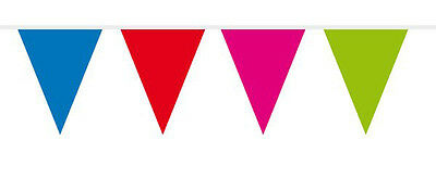 Multicoloured Mini Flag Party Bunting 15 Flags 3M Party Decoration