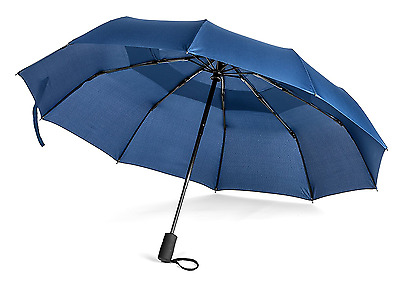 Pomelo Best Double Canopy Windproof Umbrella Auto Open And Close Compact Blue