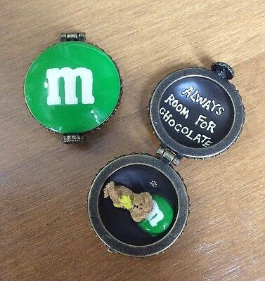 M&M Candy 2005 Yellow Green Trinket Box BOYDS Bears Always Room For Chocolate