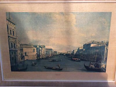 Vintage Frame hand coloured print By Antonia Canaletto
