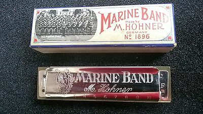 Vintage  Harmonica,Hohner,Marine Band 1896,Key F,Excellent!!,Blues,Rock,Country