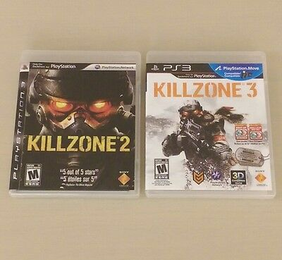 Killzone 2 & 3 Bundle (PlayStation 3) PS3 Lot Complete MINT LIKE NEW