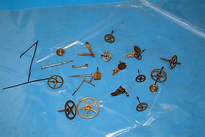antique french clock gear wheels