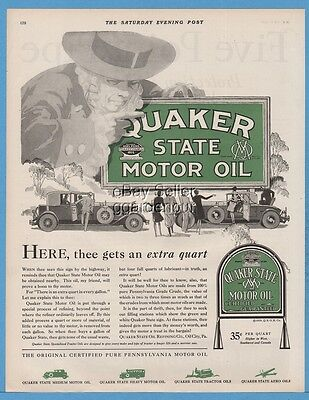 1929 Quaker State Motor Oil City PA Rumble Seat Coupe Garage Shop Wall Decor Ad