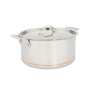 All-Clad Copper Core 8-Quart Stock Pot with Lid - 6508 SS - NEW IN BOX