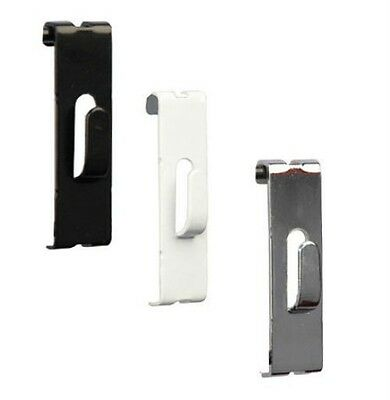 Grid Grdiwall Picture Notch Hooks | Black,White or Chrome | Case of 50 or 100