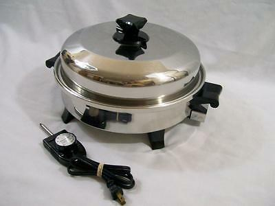 "HEALTH CRAFT Waterless 12"" Electric OIL Liquid CORE SKILLET K7273 *Excellent*"