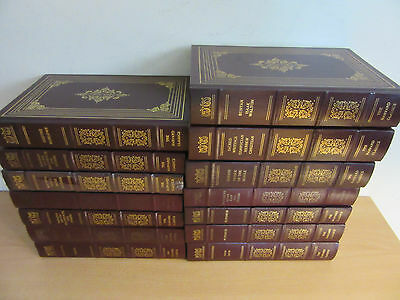 "Lot of 14 ""The Harvard Classics"" book set by Groiler 1988 Leatherbound book set"