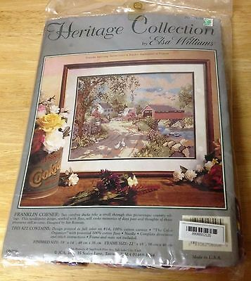 Franklin Corner Heritage Collection by Elsa Williams needlepoint kit NEW