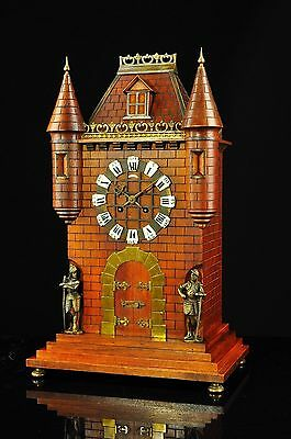 Antique French Mantel Clock in the Style of a CASTLE approx.1900