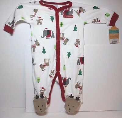NWT Just One You by Carter's Christmas Footed Pajamas Size 3 Months