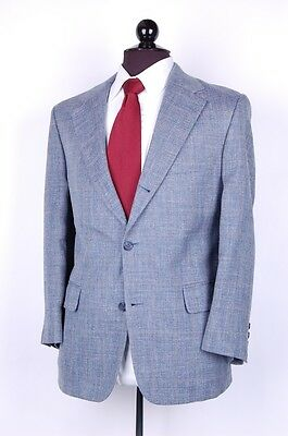 BROOKS BROTHERS Blue Houndstooth Yellow Windowpane SPORT COAT Jacket 40S 3R2