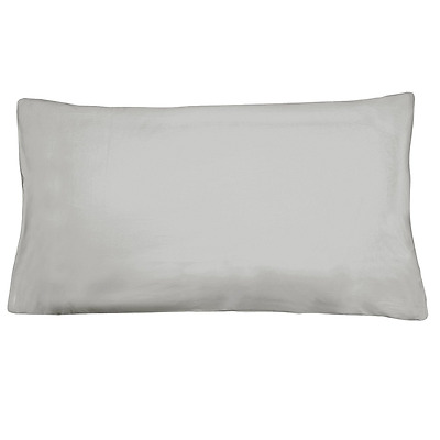 Just Contempo 200 Thread Count Cotton Pillow Case, Dove Grey, Single, Pack of 2