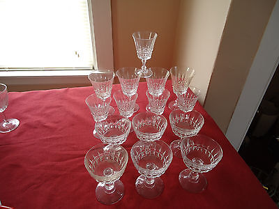 Crystal Lot Of Antique Win Glasses---Water Glasses And Fruit  Or Wine Glass  Wes