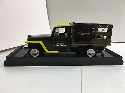Goodyear Tires 1:25 Diecast 1953 Jeep Stakebed Truck Henry Tire York PA #1