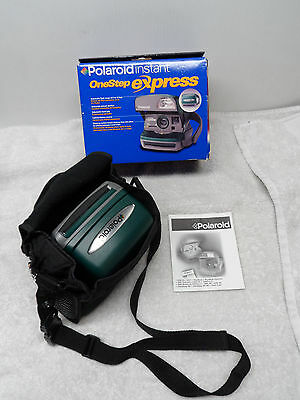 Polaroid One Step Express Green Instant Camera Type 600 Film Vintage TESTED