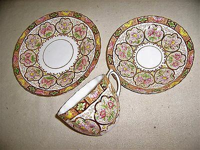 Antique Salisbury Tea Trio-Heavily gilded