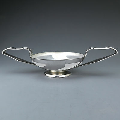 Rare Sterling Silver & Glass Arts & Crafts Fruit Bowl, WG Connell, London 1900