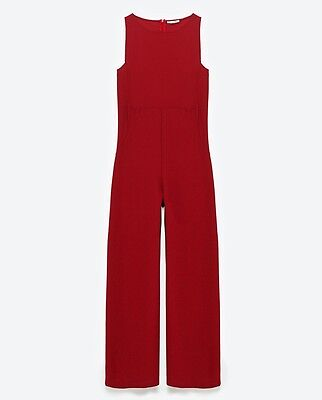 Zara Women Red Sleeveless Jumpsuit New With Tag Uk Size S