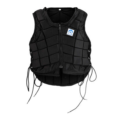 Black EVA Padded Safety Equestrian Horse Riding Vest Body Protector Equipment