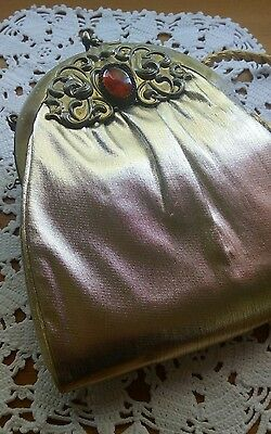 Vintage , fabulous Victorian Look purse...made in the 1940's - 1950's...Stunning