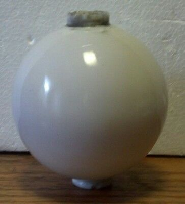 White Milk Glass Lightning Rod Ball Roof Home Cabin Decor