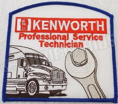 Kenworth Professional Service Technician Embroidered Patch Red Blue New