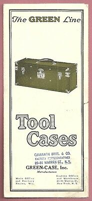 1940 Brochure THE GREEN LINE TOOL CASES Cavanagh Bros New York