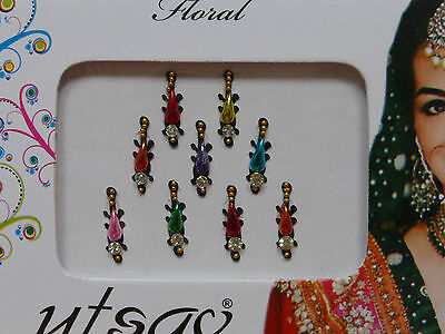 Faux Crystal Indian Bindi * Weddings Festivals Parties * Colours Vary (MT30)