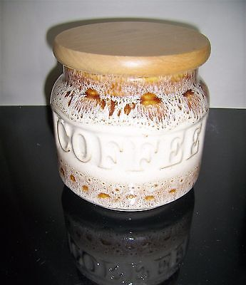 Foster's Honeycomb Coffee Container/Jar with Wooden Lid