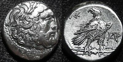 MORTOWN  Philip V (187BC) Bronze 20mm Zeus + Eagle on Thunderbolt