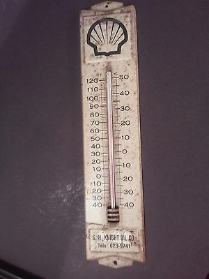 Vintage Metal Shell Oil And Gas Advertising Thermometer From Eden, NC