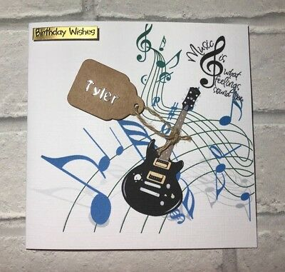 Handmade guitar birthday card for menboysteenagers 320 handmade guitar birthday card for menboysteenagers bookmarktalkfo Choice Image