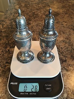 Sterling Silver Salt And Pepper Shakers Farmington  2.8 Ounces