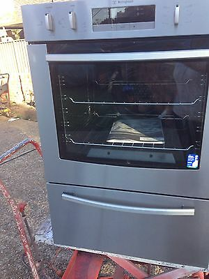 Westinghouse Late Model As New S/S Natural Gas Fan Forced Wall Oven With Grill