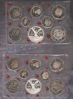 (2)Mexico 1982 / 1983 Proof Set With Onza