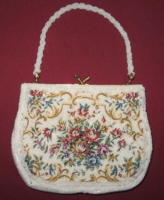 Vintage Beaded  Hand Made Purse/ Bag In Great Condition
