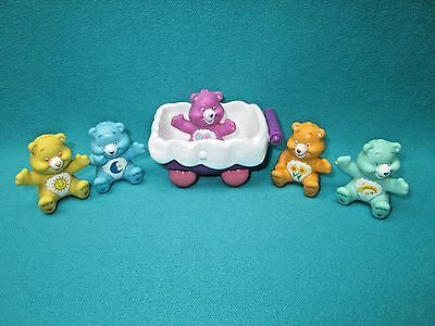 "Care Bears--1 1/2""-- 5 Piece Lot And Miscellaneous--C"